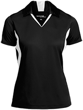 Miles Exploratory Learning Center Mustangs Ladies Colorblock Performance Polo