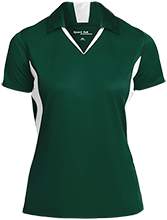 Troy Christian High School Eagles Ladies Colorblock Performance Polo