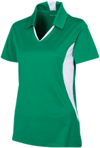 Forrest Elementary School Tasmanian Devils Ladies Colorblock Performance Polo
