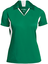 Clover Ridge Elementary School Raiders Ladies Colorblock Performance Polo