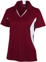 Ridge Elementary School Raccoons Ladies Colorblock Performance Polo