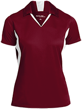Bush Elementary School Dolphins Ladies Colorblock Performance Polo
