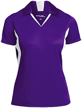A H Parker High School Bison Ladies Colorblock Performance Polo