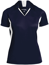Hibbett Middle School Hawks Ladies Colorblock Performance Polo