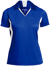 Milnor High School Bison Ladies Colorblock Performance Polo
