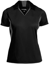 Barcelona Elementary School Bobcats Ladies Colorblock Performance Polo