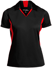 Breast Cancer Ladies Colorblock Performance Polo