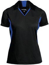 Roosevelt Sixth Grade School Falcons Ladies Colorblock Performance Polo