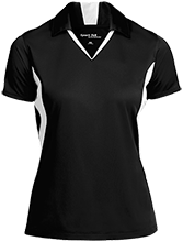 Shoals High School Jug Rox Ladies Colorblock Performance Polo