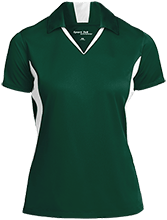 Harlan Elementary School Hawks Ladies Colorblock Performance Polo