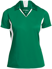 Meskwaki High School Warriors Ladies Colorblock Performance Polo