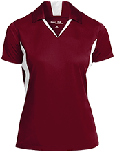 Liberty Christian Academy Eagles Ladies Colorblock Performance Polo