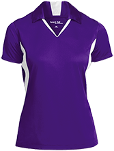 Curtis Elementary School School Ladies Colorblock Performance Polo