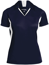 A R Carethers Academy Eagles Ladies Colorblock Performance Polo