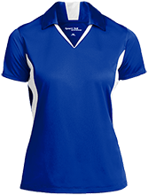 Robert E Lee HS Fighting Leemen Ladies Colorblock Performance Polo