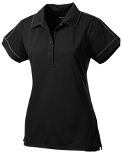 Ludington Middle School Orioles Ladies Contrast Stitch Performance Polo