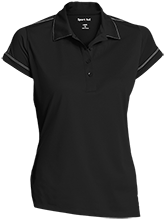 Amity Elementary School Groundhogs Ladies Contrast Stitch Performance Polo