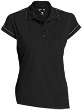 Breast Cancer Ladies Contrast Stitch Performance Polo