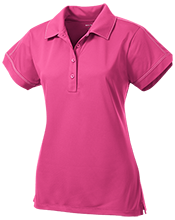 Anansi Charter School Ladies Contrast Stitch Performance Polo
