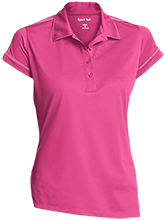 Liberty Christian Academy Eagles Ladies Contrast Stitch Performance Polo
