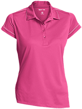 Barcelona Elementary School Bobcats Ladies Contrast Stitch Performance Polo