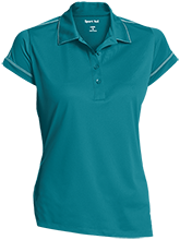 Swinburne Elementary School Roadrunners Ladies Contrast Stitch Performance Polo