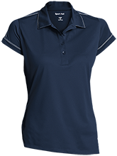 Lyman Ward Military Academy Fighting Rangers Ladies Contrast Stitch Performance Polo