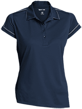A R Carethers Academy Eagles Ladies Contrast Stitch Performance Polo