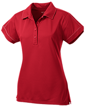 Little Mountain Elementary School Mustangs Ladies Contrast Stitch Performance Polo