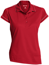 Bear Flag Elementary School Bears Ladies Contrast Stitch Performance Polo