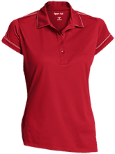 Reynolds Elementary School Ravens Ladies Contrast Stitch Performance Polo
