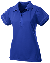 Henley Elementary School Honeybees Ladies Contrast Stitch Performance Polo