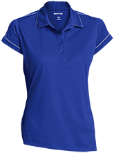 Milnor High School Bison Ladies Contrast Stitch Performance Polo