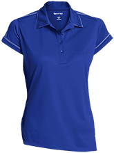 Oxford Middle School Chargers Ladies Contrast Stitch Performance Polo