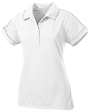 Ridge Elementary School Raccoons Ladies Contrast Stitch Performance Polo