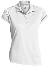 Miles Exploratory Learning Center Mustangs Ladies Contrast Stitch Performance Polo