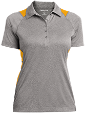 Berean Junior Academy School Ladies Heather Moisture Wicking Polo