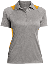 Swinburne Elementary School Roadrunners Ladies Heather Moisture Wicking Polo