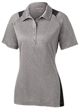 Pine Trails Elementary School Tigers Ladies Heather Moisture Wicking Polo