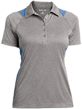 West Nodaway R-1 High School Rockets Ladies Heather Moisture Wicking Polo