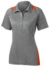 Mahomet-Seymour JH Bulldogs Ladies Heather Moisture Wicking Polo