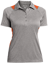 Amity Elementary School Groundhogs Ladies Heather Moisture Wicking Polo