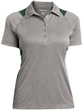 Fillmore High School Eagles Ladies Heather Moisture Wicking Polo