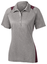 Ridge Elementary School Raccoons Ladies Heather Moisture Wicking Polo