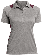 Liberty Christian Academy Eagles Ladies Heather Moisture Wicking Polo