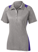 A H Parker High School Bison Ladies Heather Moisture Wicking Polo