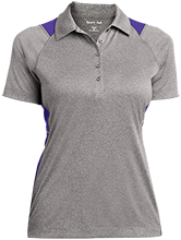 Patterson Elementary School Panthers Ladies Heather Moisture Wicking Polo
