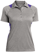 Curtis Elementary School School Ladies Heather Moisture Wicking Polo