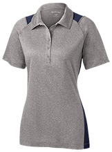 Maranatha Baptist Academy Crusaders Ladies Heather Moisture Wicking Polo