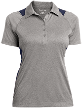 A R Carethers Academy Eagles Ladies Heather Moisture Wicking Polo